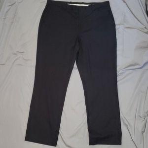Perry Ellis Size 36 x 30 Black Pinstripe Slacks